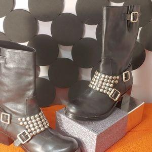 Bcbgenration Halen Silver Studded Boots..Sz 6